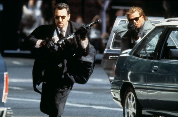 Robert De Niro as Neil Macauley and Val Kilmer as Chris Sheheerlis make a daring escape in Heat