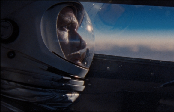 Ryan Gosling as Neil Armstrong testing the limits of an X-15 in First Man